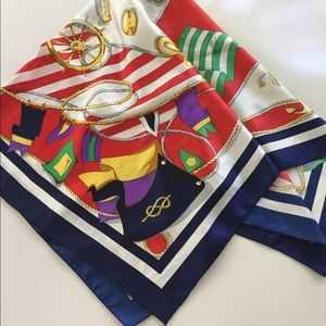 """Berkshire Scarf Nautical Anchors Flags Square 33"""""""
